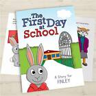 First Day at School Personalised Childrens Book Gift Idea Softback Hardback