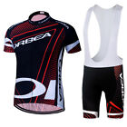 MTB Bike Teak Men's Cycling Jersey Bib Shorts with Padded Bicycle Clothes Sets
