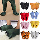 Warm Slippers Kigurumi Pajamas Cosplay Animals Shoes Paw Claw Shoes Kids Adults