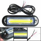 2PCS 12-24V COB LED Emergency Warning Traffic Advisor Car Truck Strobe Light Bar