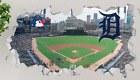 Comerica Park Detroit Tigers Wall Decal Smashed 3D Sticker Decor Mural MLB OP107 on Ebay