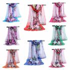 2017 Fashion Stylish Women Long Soft Silk Chiffon Scarf Wrap Shawl Scarves  #010