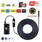 6LED Wireless Endoscope WiFi Borescope Inspection HD Camera for Android iPhones