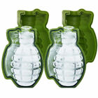 Silicone Grenade Shape 3D Ice Cube Mold Maker Bar Party Trays Mold Driking Tool