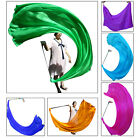 "1pc 2.3m*0.9m(90""x35"") 1-color light belly dance silk veil poi, steel chain"