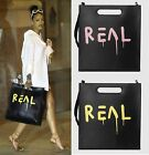 "Celebrity Ghost Graffiti ""REAL"" Letter Trouble Andrew Square Tote Shoulder Bag"