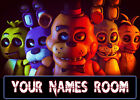 FNAF Personalised Plaques Children's Five Nights At Freddies Perfect Gift A4 A5