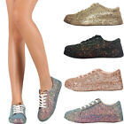 Kyпить New Women Iridescent Glitter Lace Up Gym Fitness Trainer Fashion Sneaker Booties на еВаy.соm