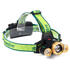 US 30000LM 5x XM-L T6 LED Rechargeable 18650 USB Headlamp Head Light Zoomable A