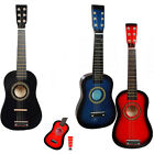 """23"""" Acoustic Wooden Guitar With Metal Strings Pick Children Musical Instrument"""