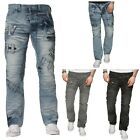 NEW MENS ETO DESIGNER FUNKY STYLE REGULAR STRAIGHT FIT JEANS BLUE ALL SIZES