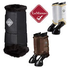 LeMieux Fleece Lined Brushing Boots Dressage/Schooling/Hacking White/Black/Brown