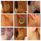 Nice Women's Silver Plated Circle Spiral Hoop Earrings Jewelry Party Prom Casual