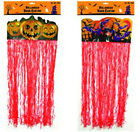 House Decoration For Halloween Red Curtain Banner Door Hanger Tinsel