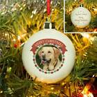 Personalised Christmas Tree Bauble Pet Photo Memorial Cat Dog Xmas Best Pal