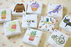 Lifelog Stickers 45pc Cartoons Animals Cake Succulents shapes diary gift sticker
