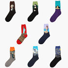 oil socks - Creative Unisex Adults Sock Art Retro Oil Painting Casual Over Ankle Crew Socks