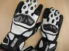 Carbon Fiber - Motorcycle Gloves Leather Gauntlet half price of Icon REV'IT