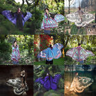Women Butterfly Wing Large Cape Scarf Gradient Printing Beach Cover Up Shawl New