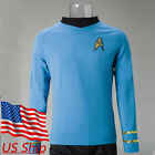 Star Trek TOS Captain Kirk Shirt Uniform Cosplay Costume Blue Men's Shirt New on eBay