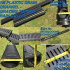 DRAIN CHANNELS - PLASTIC GRATED RAIN GULLY STORM DRAINAGE DRIVEWAY WATER GUTTER