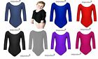 Ages (3-16) Girls Gymnastics Leotard Stretchy Dance Sports Sleeve Top Uniform