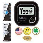 BLK GolfBuddy Voice 2 Golf GPS/Rangefinder + Taylormade TP5 or TP5X+Ball Marker
