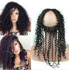 360Lace Frontal Closure 100%Brazilian Remy Human Hair Kinky Curly Pre Plucked