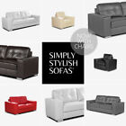 BELLA Modern Italian Inspired Leather Sofas 3 + 2 + Armchairs + 1 Year Guarantee