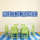 Welcome Vinyl Wall Decal Quote - fits entryway, nursery, bedroom and more L222