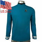 Star Trek Beyond Spock Blue Uniform Science Officer Cosplay Costume Shirts Pin on eBay