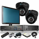 2 x IR Night Vision Camera HD-MI 4 CH DVR CCTV System iPhone Viewing Monitor UK