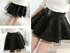 Women's Beads High Waist Pleated Floral Short Mini Skirt Skater Women Skirts