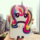 3D Cartoon Colorful Unicorn Horse Soft Silicone Case Cover For iPad Tablets PC