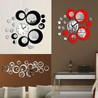 Creative 3D DIY Clock Decoration Circle Acrylic Mirror Wall Sticker Mural Decals