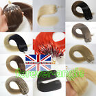 7ADouble Drawn Remy Human Hair Extensions Micro Ring Beads Loop Tip Hair 1G/S UK