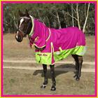 LOVE MY HORSE 600D 5'0 - 6'9 Summer Waterproof Rainsheet Combo Rug Rasb/Lime
