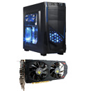 Intel quad-core fast Custom Gaming PC GTX 750ti 8gb Desktop Computer