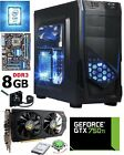 INTEL QUAD CORE LIQUID COOL fast Custom Gaming PC GTX 750ti 8gb Desktop Computer