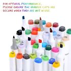 Ohuhu 100/80/60/40 Colors Dual Tips Art Sketch Twin Marker Pens Highlighters&Bag