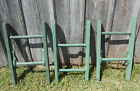 Brightly Colored Moss Green Rustic Antique 2 Rung Ladder
