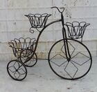 """31"""" Wrought Iron Tricycle Plant Holder Decorative Lawn or..."""