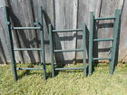 Brightly Colored Hunt Club Green Rustic Antique 3 Rung Ladder