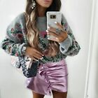 ZARA EMBROIDERED SWEATER GRAY S ,M REF. 9598/102 AW17 BLOGGERS FAVORITE