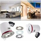 4 / 6 / 10 X FIRE RATED Fixed GU10 IP20 Downlight 3 Colours Bayonet Ring