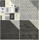 12x12 Authentique Everlasting Wedding Scrapbook Paper Black & White Tie The Knot $1.0 USD