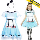 Alice In Wonderland Kids Story Fairytale World Book Day Childrens Girls Costume