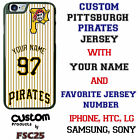 Custom Pittsburgh Pirates stripe Jersey Phone Case with Your Name & # for iPhone