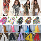 Womens Long Soft Scarf Wrap Shawl Vintage Voile Scarves Fashion Head Neck Stole