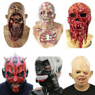 Scary Halloween Zombie Melting Full Face Mask Latex Cosplay Party Costume Props